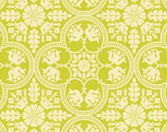 Joel Dewberry Fabric, Historic Tile in Citron, Notting Hill Collection, 1 Yard