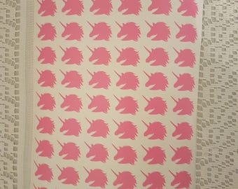 60 Unicorn stickers for envelopes and stationary