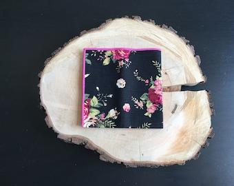 Black Floral pocket square | floral pocket square | floral handkerchief | floral pocket squares |  floral handkerchief