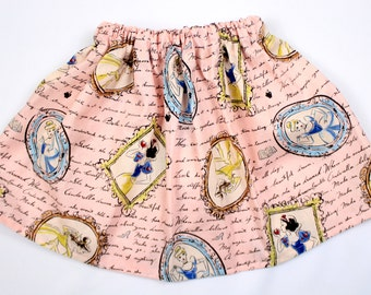 Girls Disney Princess Skirt, Vintage Disney Princess Skirt, Toddler Princess Skirt