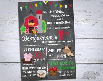 farm birthday invitation barnyard birthday party invitation