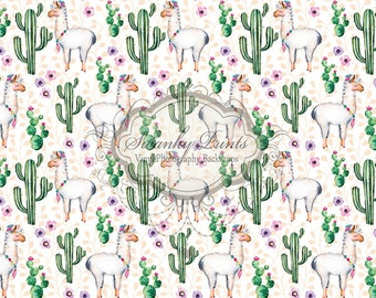 PRODUCT 2ft x 2ft Vinyl Photography Backdrop / Blooming Cactus