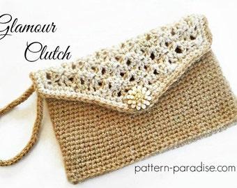 Crochet Pattern for Clutch, Purse, Evening Bag, Glamour Clutch, PDF 16-282