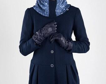 """womens coat """"tulip coat"""" blue, wool,wool coat"""