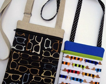 In the Hoop Hipster Purse Set Machine Embroidery Design Files Instant Download