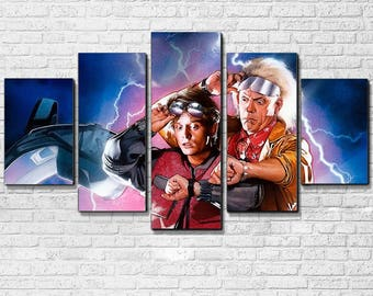 Back to the Future 5 PC Canvas Set
