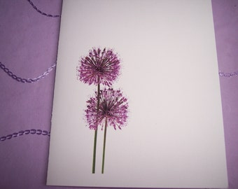 Purple Dandelion Note Cards. Set Of Ten all Occasion cards blank inside