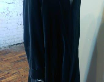 Black Cotton long coat, cloak
