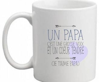 "CERAMIC MUG ""message to Dad"""