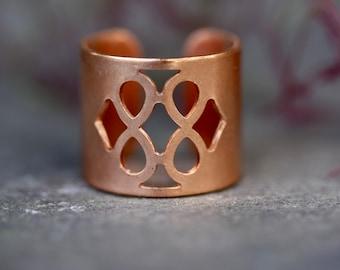 Boho rings, bohemian rings, hippie rings, copper ring, tribal ring, COPPER rings, boho jewelry, GEOMETRIC RING,