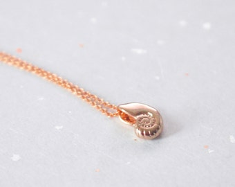 Ariel voice, Seashell, Rose gold, Necklace, Antique, Shell, Ariel, Necklace, Birthday, Lovers, Best friends, Mom, Sister, Gift