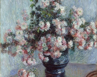 "Claude Monet : ""Chrysanthemums"" (1882) - Giclee Fine Art Print"
