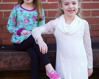 Mya Top, Tunic & Dress PDF Sewing Pattern Sizes 1/2-14