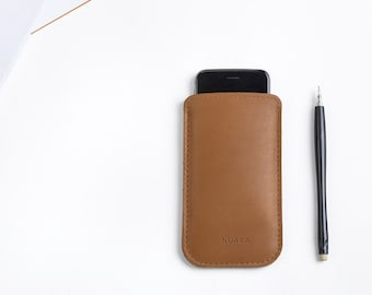 Leather Sleeve iPhone 5 and 5s - iPhone Case - iPhone Cover - iPhone 5 Leather - iPhone Sleeve - Cell Phone Case