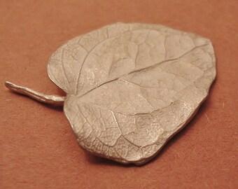 English ivy leaf large sterling silver leaf cast ivy leaf  UL015-1