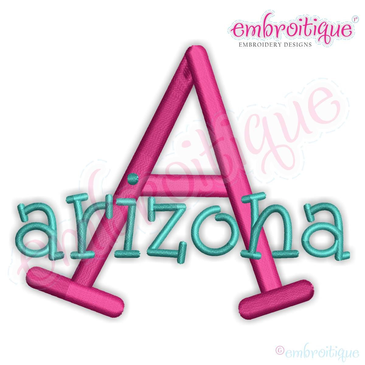 arizona monogram set machine embroidery font alphabet letters. Black Bedroom Furniture Sets. Home Design Ideas