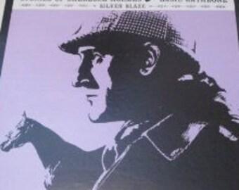 Basil Rathbone narrates Stories of Sherlock Holmes: Silver Blade, 1967 Vinyl LP Record Spoken Word Mystery