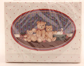 NEW! Vintage 2 Packages of One Dozen Each. Fold- Up Note Cards with Seals. Bears
