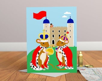 Mice Card - Mice Greeting Card - Childrens Card - London Card