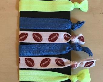Seahawks Inspired Hair Ties