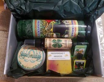 Prosperity kit, prosperity candle, soap,incense sticks, prosperity oil and perfume