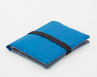 Half-Fold Minimalist Wallet, Dyneema Cuben Fiber, Azure Blue, Ultralight Gear