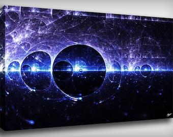 Particle Fractal Canvas Print By CrownosArts