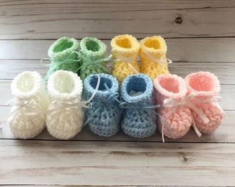 Baby booties, Baby Shower gift, Baby shoes, crochet booties, crib shoes, baby gift Baby shoes,  newborn baby shoes, gender reveal