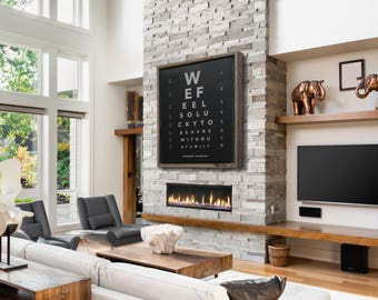 Eye Chart Custom Quote Print Optometrist Gift Canvas Reclaimed Wood Frame Family Name Sign Rustic Home Decor Rustic Decor Large Wall Art