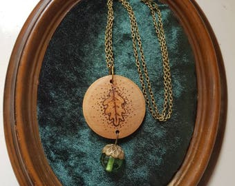 Oak and Acorn Necklace