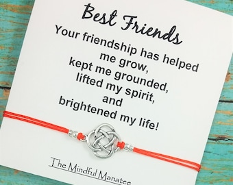 Best Friend Bracelet | Friendship Bracelet | Celtic Bracelet | BFF Gift | Best Friend Gift | Gift for Her | Thank You