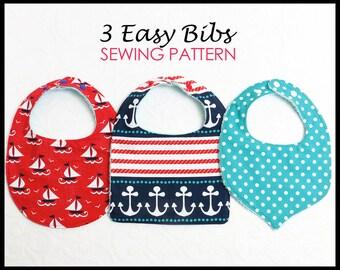 Baby Bib Pattern, Baby Sewing Pattern, Infant Bib Pattern, Baby Bib Patterns, Bib Pattern, Bib Patterns, PDF Sewing Pattern, BASIC BIBS