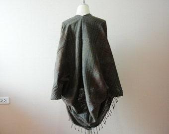 bolero shrug,grayish bolero,woven bolero,woven poncho,boho,cotton woven shrug,woven cape,Boho Clothing,cape,kimono shrug, oversize shrug