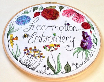 Free-motion Embroidery Workshop for BEGINNERS - Full Day