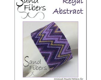 Peyote Pattern - Regal Abstract Cuff / Bracelet - A Sand Fibers For Personal/Commercial Use PDF Pattern