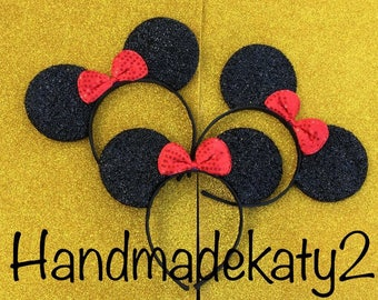 Headband set of 12 pieces  Sparkly Minnie Ears  Headbands