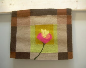 Wall Tapestry hand made, decorative hanging, BROWN, Cala""