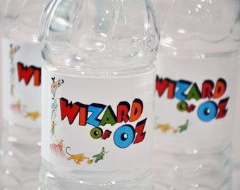 INSTANT DOWNLOAD, Vintage Wizard of Oz Water Bottle Labels, Printable