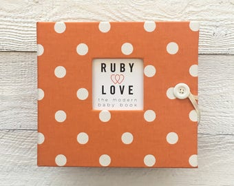 BABY BOOK | Orange Polka Dot Album