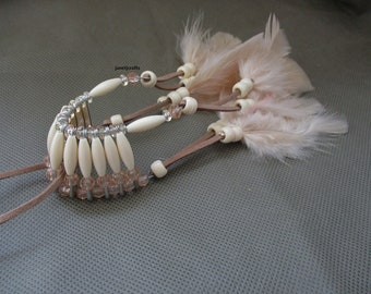 Car accessories for men , Beaded car charm ,Rear view mirror charm, Beaded car charm with feathers , Mirror charm
