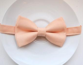 Ice Peach bow tie, baby bow tie, boys bow tie ,adult bow tie,groomsmen bow tie, men's bow tie, wedding bow tie