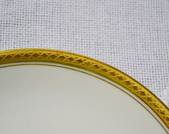 Vintage Haviland Limoges Saucer Wright Tyndale Van Roden White Gold Band France Replacement PanchosPorch