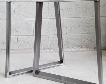 "TRAPEZIUM Table / Bench legs Designer Retro Steel Metal Industrial ""The Delamere Leg"" Table legs"