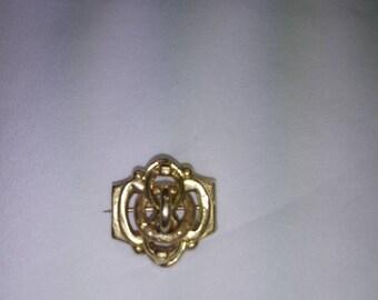 Brooch vintage yellow gold 18 k