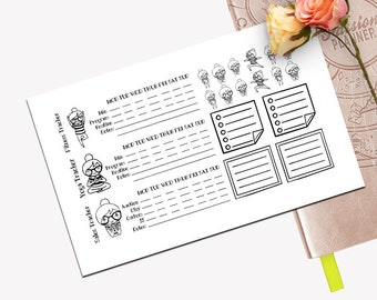 Weekly Tracker Sticker Set, All Planner Stickers, Stickers, Printed, Cut, Passion Planner, Functional Sticker, Fitness, Yoga, Sales, To Do