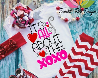 Valentines Day SVG, DXF, Its All About The XOXO, Hugs and Kisses, Heart, Love, Girl Valentine shirt cut file for silhouette cameo and cricut