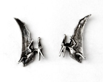 Pterodactyl Sterling Silver Post Earrings