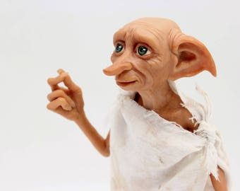 Harry Potter Dobby the House Elf art doll, polymer clay figurine, will make to order