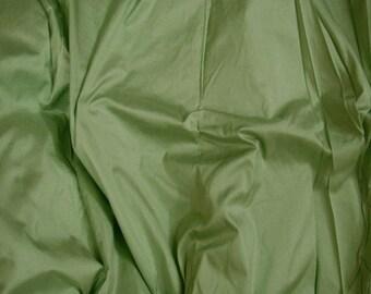 Silk Fabric - Grey Green Silk Dupioni - 100% Pure Silk - 1 Yard - Sld198
