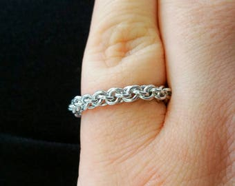 Flexible Stackable JPL Chainmaille Ring